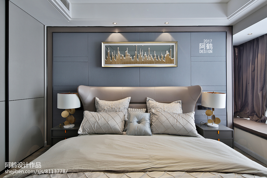 精致150平简约四居卧室装潢图卧室现代简约卧室设计图片赏析