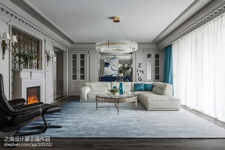 浪漫美式四居客厅吊灯设计图客厅