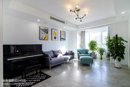 2018135平米混搭复式客厅装饰图片复式潮流混搭家装装修案例效果图