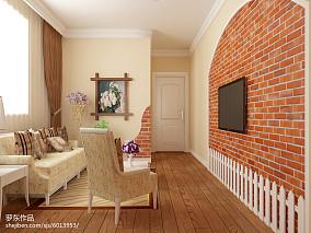 精美面积80平小户型客厅田园装饰图片欣赏