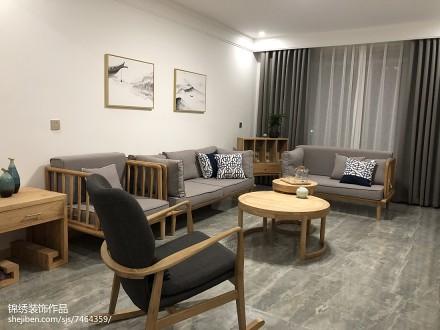 2018105平米三居客厅日式设计效果图