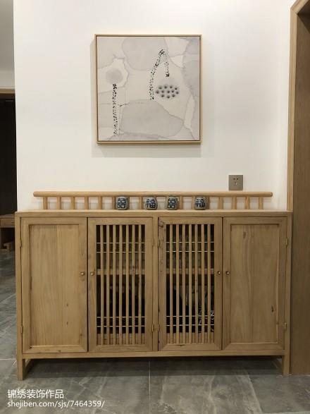 热门三居玄关日式装修欣赏图121-150m²三居日式家装装修案例效果图