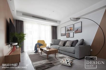 复式北欧式客厅设计图复式北欧极简家装装修案例效果图