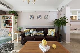 2018面积87平美式二居客厅装饰图