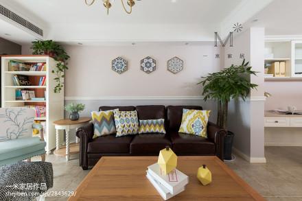 2018面积87平美式二居客厅装饰图121-150m²二居美式经典家装装修案例效果图