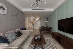 热门面积74平现代二居客厅实景图片欣赏