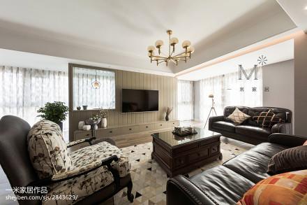 四居美式客厅吊灯设计图