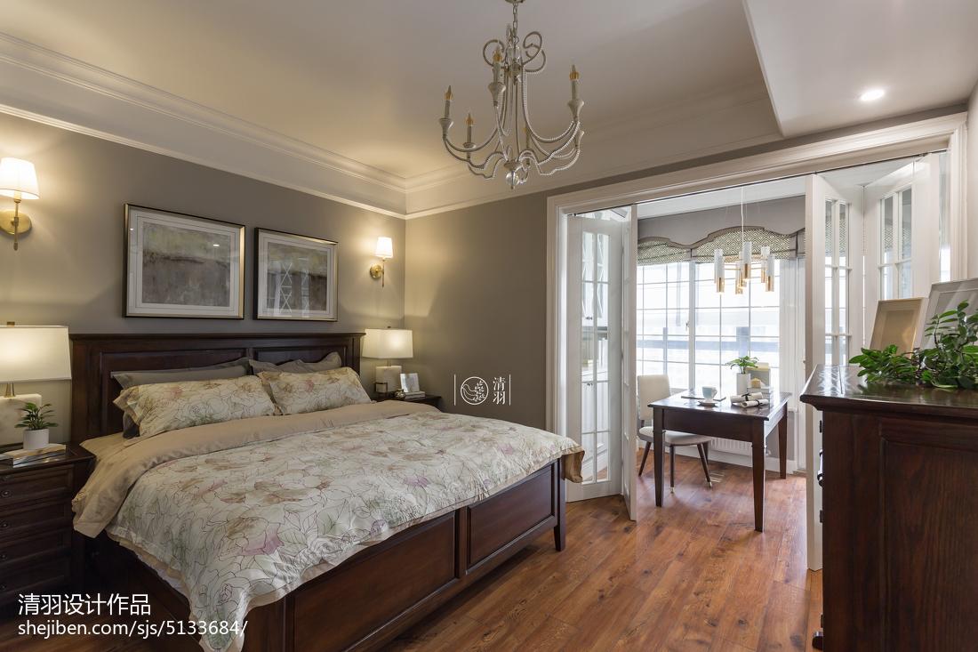 热门91平米三居卧室混搭装修图片欣赏卧室