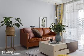 2018二居客厅北欧实景图片大全二居北欧极简家装装修案例效果图