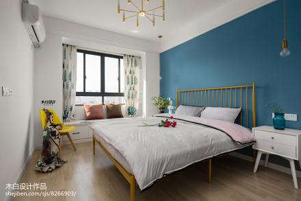 热门面积81平北欧二居卧室实景图片卧室