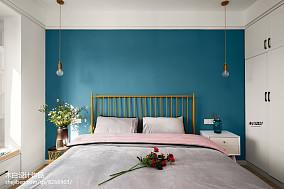 精选面积88平北欧二居卧室装修图片二居北欧极简家装装修案例效果图