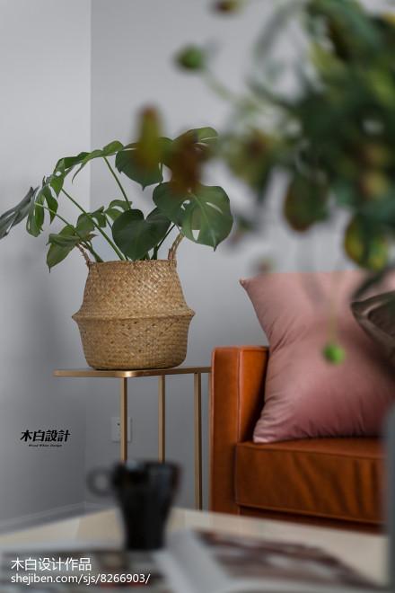 2018精选70平米二居客厅北欧实景图片