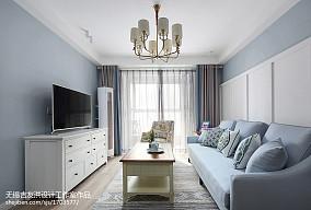 热门二居客厅美式装修设计效果图片大全