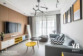 精美88平北欧二居客厅装修图