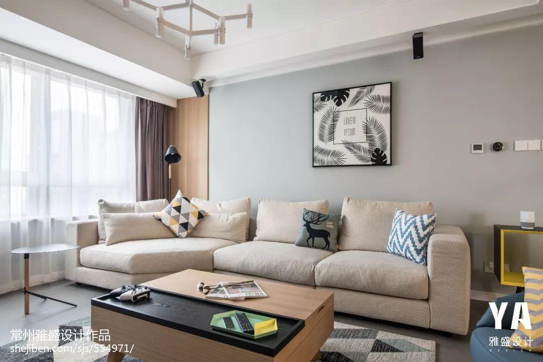 平米二居客厅北欧装修效果图片大全客厅