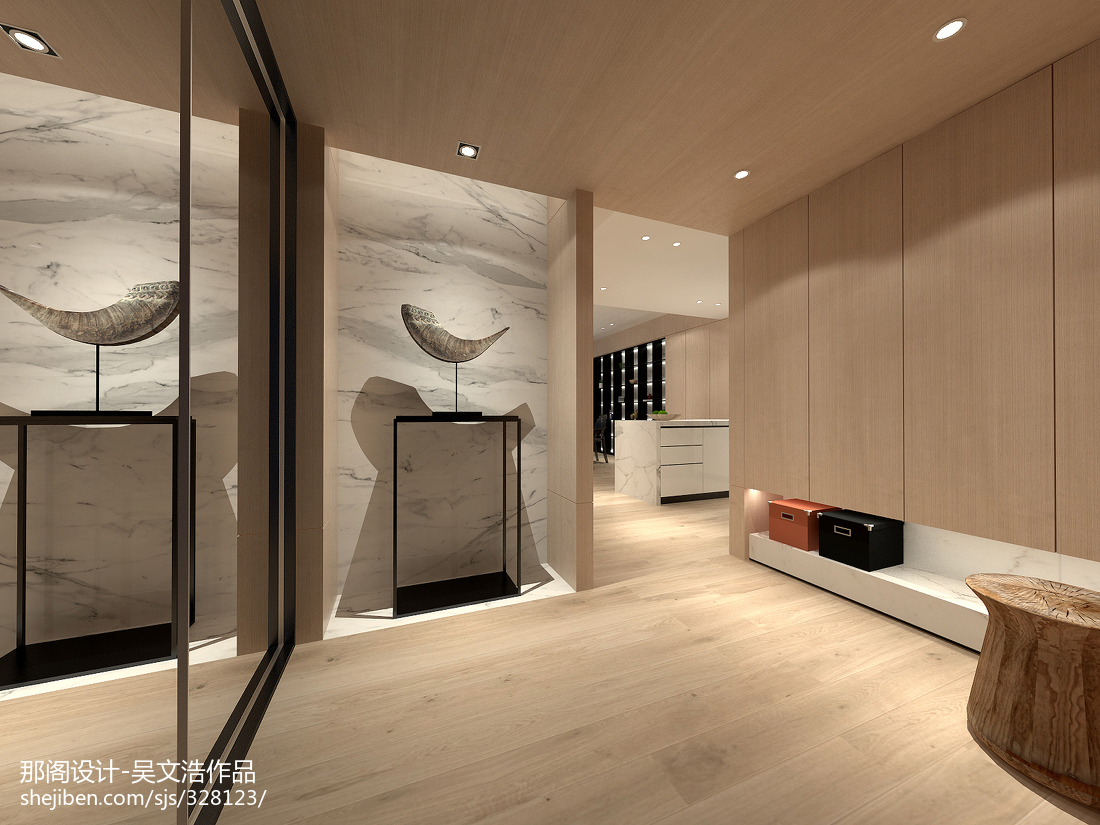 精美面积139平现代四居玄关装修效果图片欣赏玄关现代简约玄关设计图片赏析