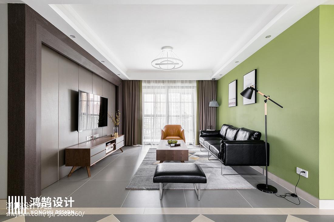 悠雅130平现代三居客厅布置图客厅