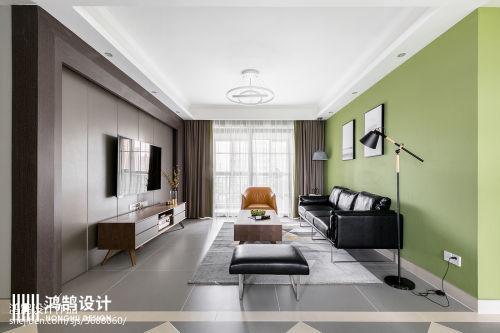 悠雅130平现代三居客厅布置图客厅窗帘三居现代简约家装装修案例效果图