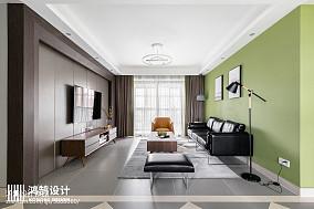 悠雅130平现代三居客厅布置图