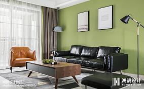 热门92平米三居现代实景图三居现代简约家装装修案例效果图