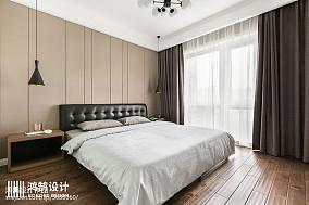 130平现代次卧设计图三居现代简约家装装修案例效果图