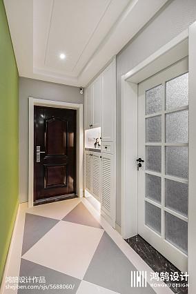 2018面积98平现代三居玄关装修实景图三居现代简约家装装修案例效果图