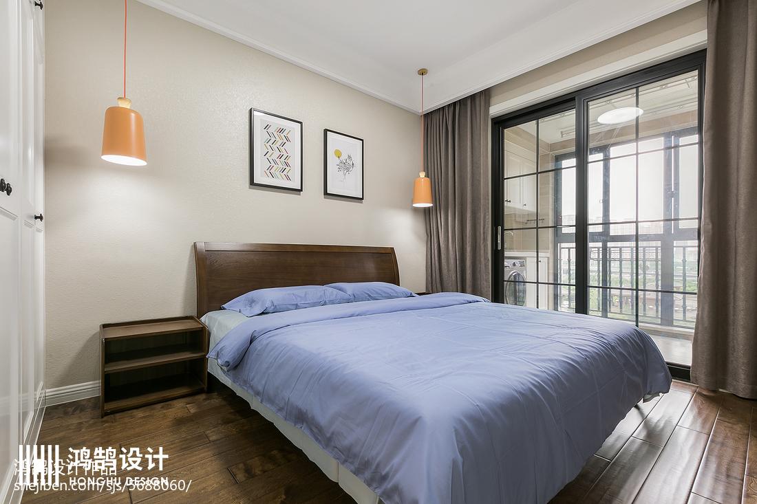 平米三居卧室现代装修欣赏图片卧室床现代简约卧室设计图片赏析