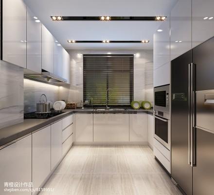 热门面积127平别墅厨房现代装修设计效果图片大全餐厅