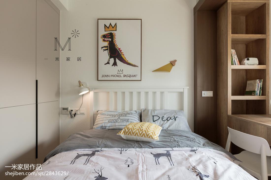 温馨130平北欧二居卧室装饰美图卧室北欧极简卧室设计图片赏析