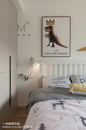 2018精选北欧二居卧室装修欣赏图二居北欧极简家装装修案例效果图