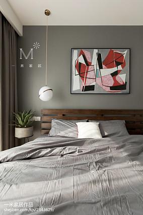 2018精选北欧二居卧室装修设计效果图片欣赏二居北欧极简家装装修案例效果图