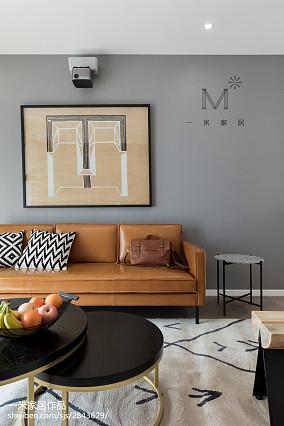温馨74平北欧二居客厅实拍图二居北欧极简家装装修案例效果图