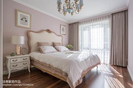 简洁116平美式三居设计美图卧室