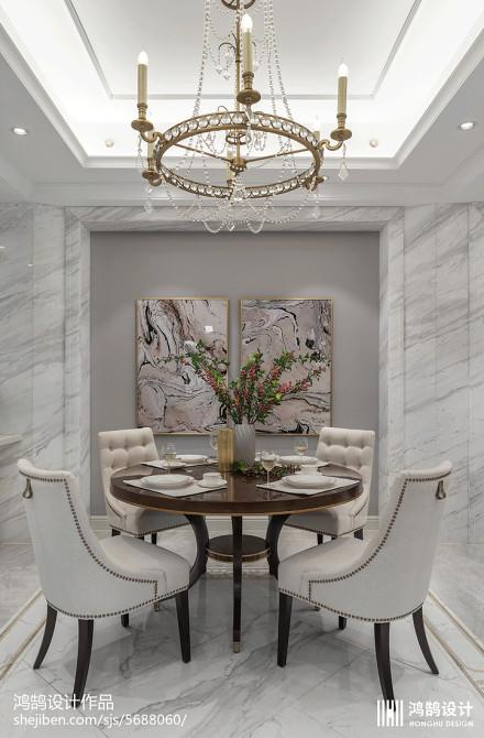 热门132平米美式别墅餐厅装修实景图片大全