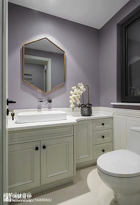 美式别墅卫生间装修效果图别墅豪宅美式经典家装装修案例效果图