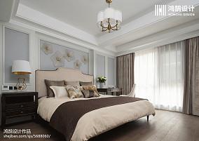 2018精选面积124平别墅卧室美式效果图别墅豪宅美式经典家装装修案例效果图