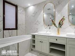 精选面积130平别墅卫生间美式装修设计效果图片大全别墅豪宅美式经典家装装修案例效果图
