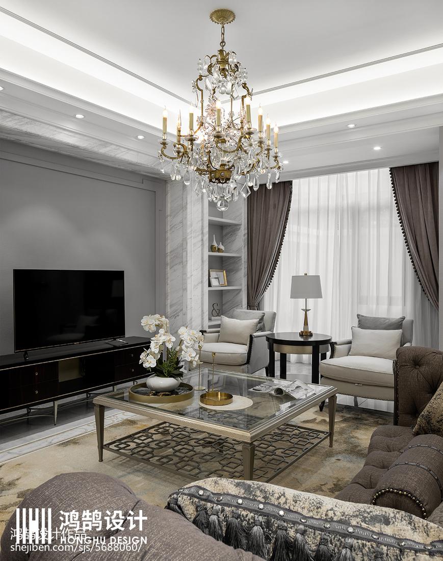 面积132平别墅客厅美式装修图片客厅
