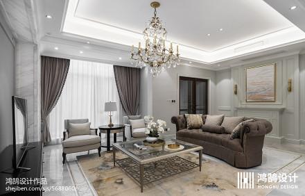450平美式客厅设计图片