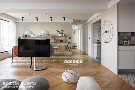 精选面积106平北欧三居客厅设计效果图三居北欧极简家装装修案例效果图