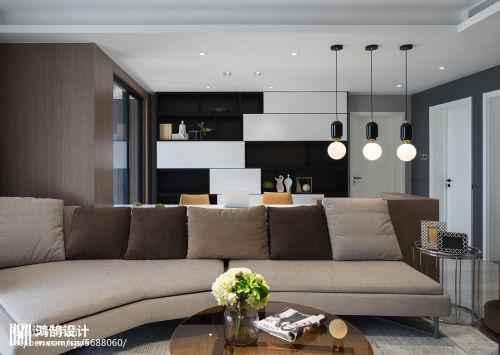 2018精选98平米三居客厅现代实景图片欣赏客厅茶几