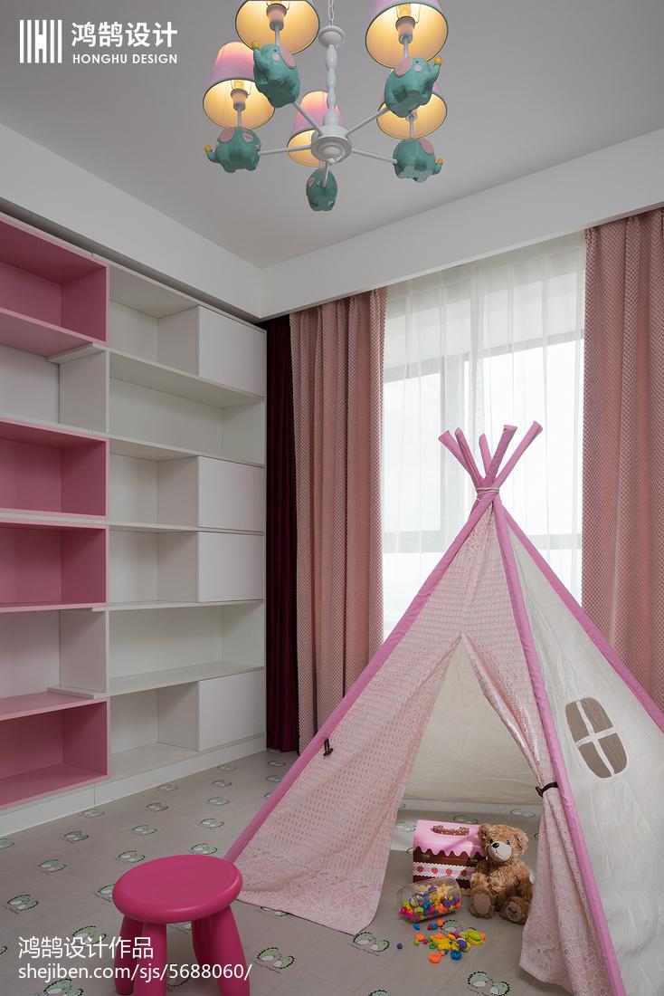 精选面积108平现代三居儿童房实景图卧室现代简约卧室设计图片赏析