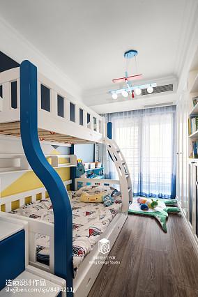 精美面积93平地中海三居儿童房装修欣赏图片
