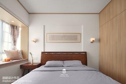 热门92平米三居卧室日式装修设计效果图片大全卧室