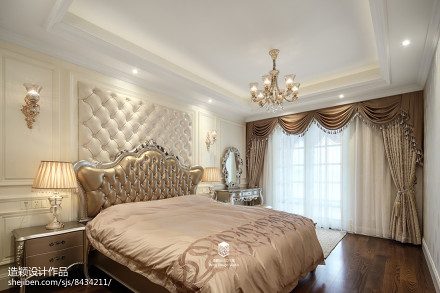 2018精选面积131平欧式四居卧室装修实景图片大全卧室