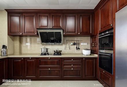 华丽93平美式四居厨房装修效果图餐厅
