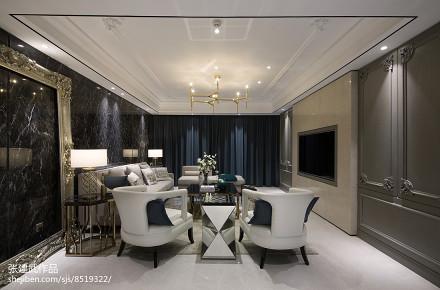 热门110平米四居客厅简欧装饰图片四居及以上北欧极简家装装修案例效果图