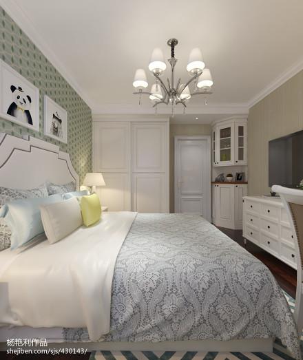 热门104平米三居卧室简欧装修设计效果图
