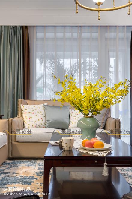 质朴91平美式三居客厅装饰图