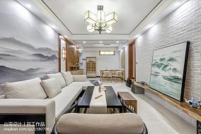 温馨103平中式三居客厅效果图片大全